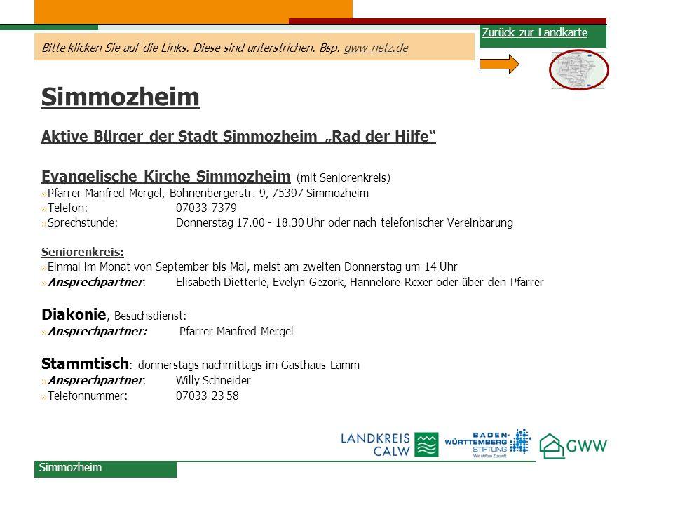 """Simmozheim Aktive Bürger der Stadt Simmozheim """"Rad der Hilfe"""