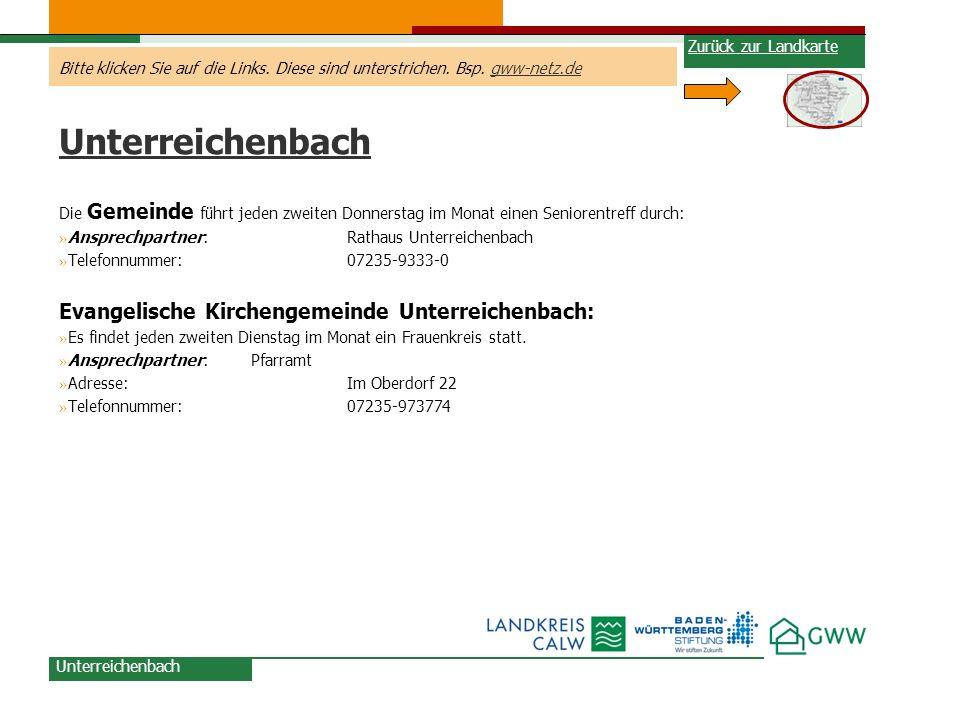 Unterreichenbach Evangelische Kirchengemeinde Unterreichenbach: