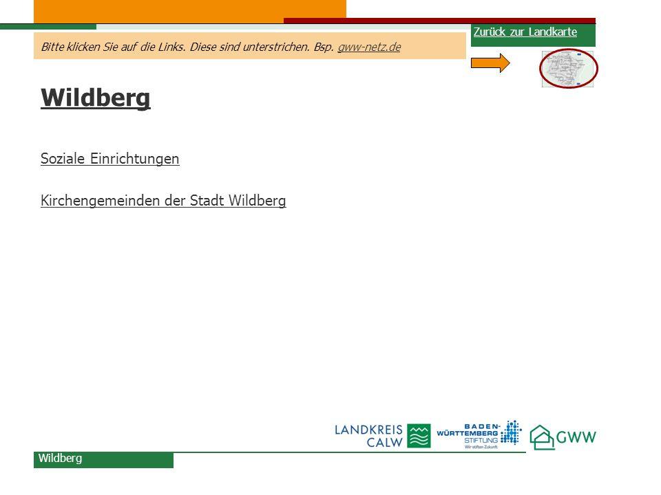 Wildberg Soziale Einrichtungen Kirchengemeinden der Stadt Wildberg