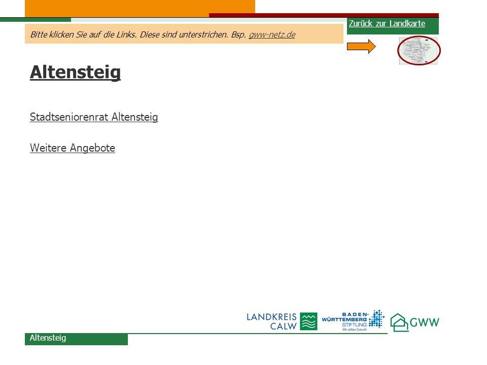 Altensteig Stadtseniorenrat Altensteig Weitere Angebote