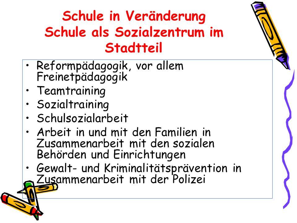 Schule in Veränderung Schule als Sozialzentrum im Stadtteil
