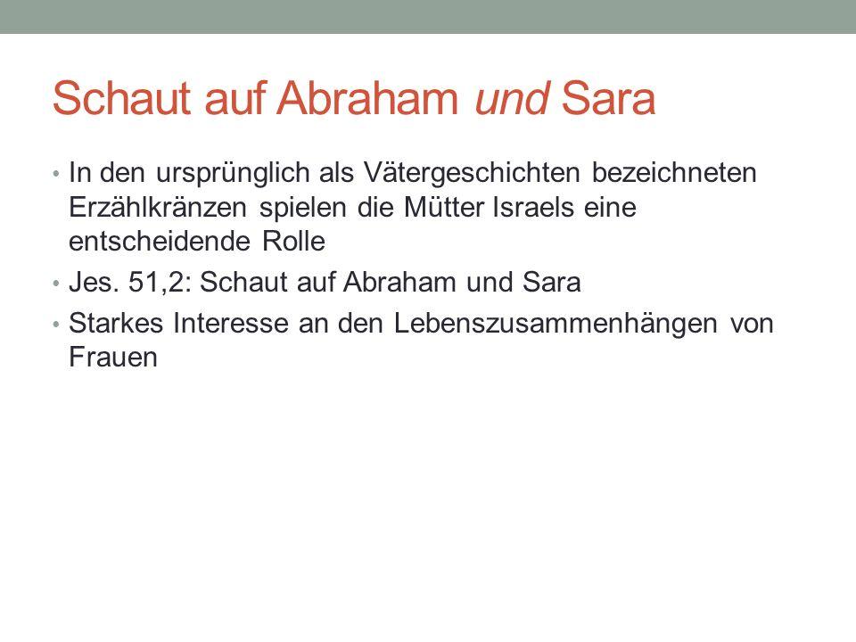 Schaut auf Abraham und Sara