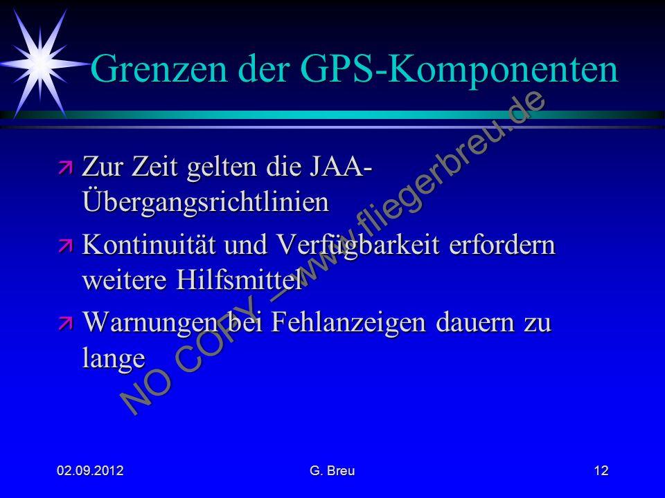 Grenzen der GPS-Komponenten