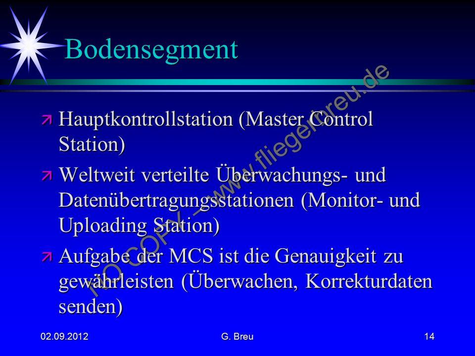 Bodensegment Hauptkontrollstation (Master Control Station)
