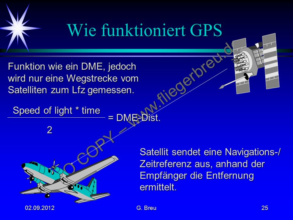 Wie funktioniert GPS Funktion wie ein DME, jedoch