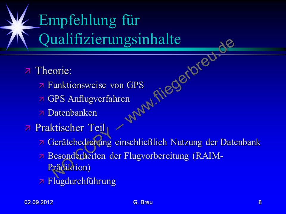 Empfehlung für Qualifizierungsinhalte