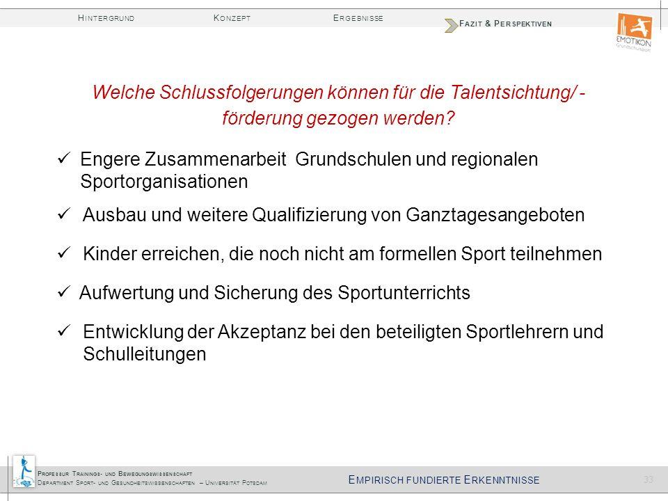 Engere Zusammenarbeit Grundschulen und regionalen Sportorganisationen