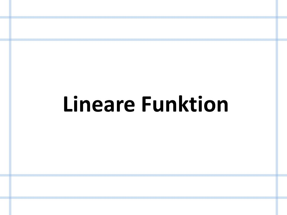Lineare Funktion