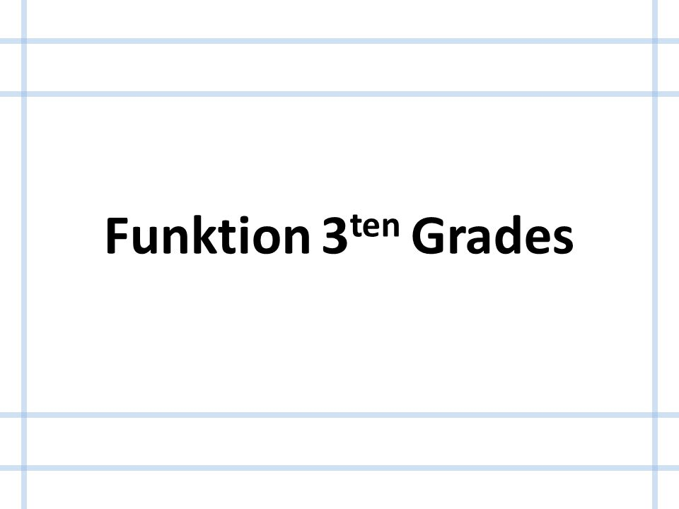 Funktion 3ten Grades
