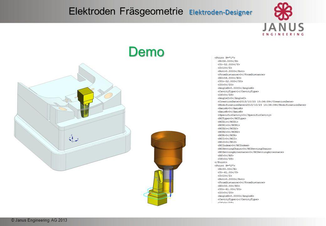 Elektroden Fräsgeometrie Elektroden-Designer
