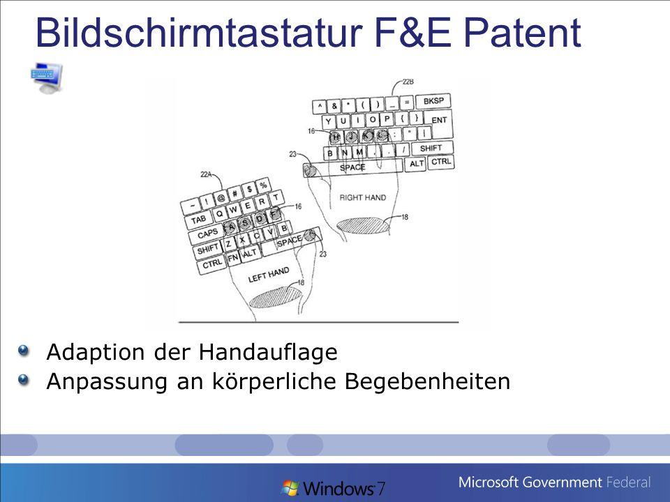 Bildschirmtastatur F&E Patent
