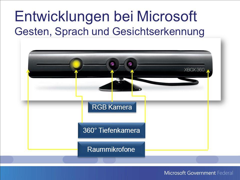Entwicklungen bei Microsoft Gesten, Sprach und Gesichtserkennung