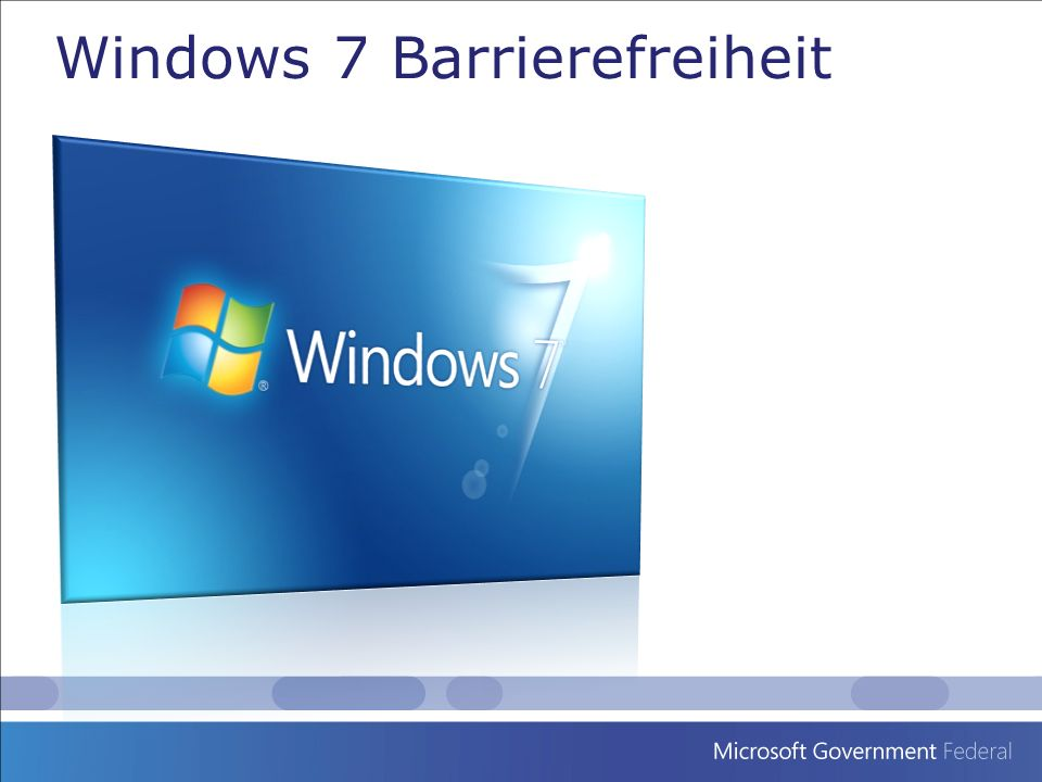 Windows 7 Barrierefreiheit