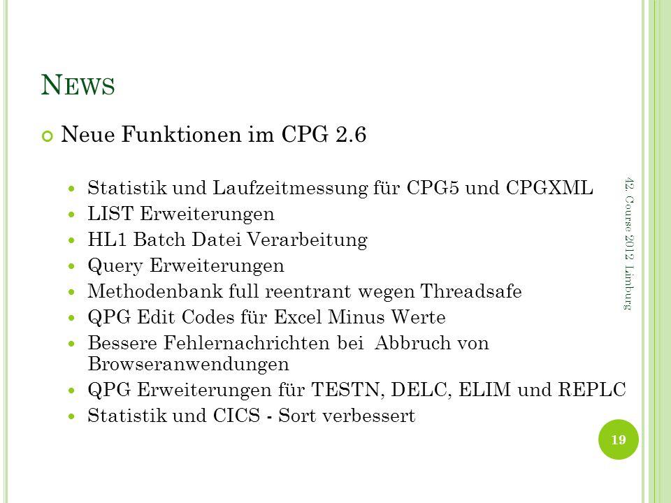 News Neue Funktionen im CPG 2.6