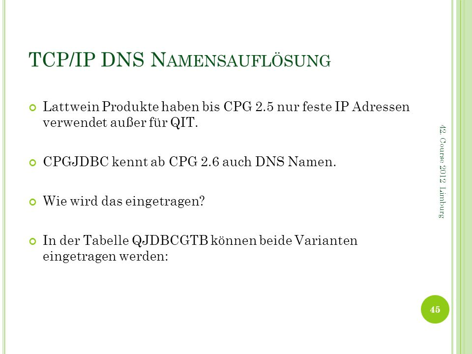 TCP/IP DNS Namensauflösung