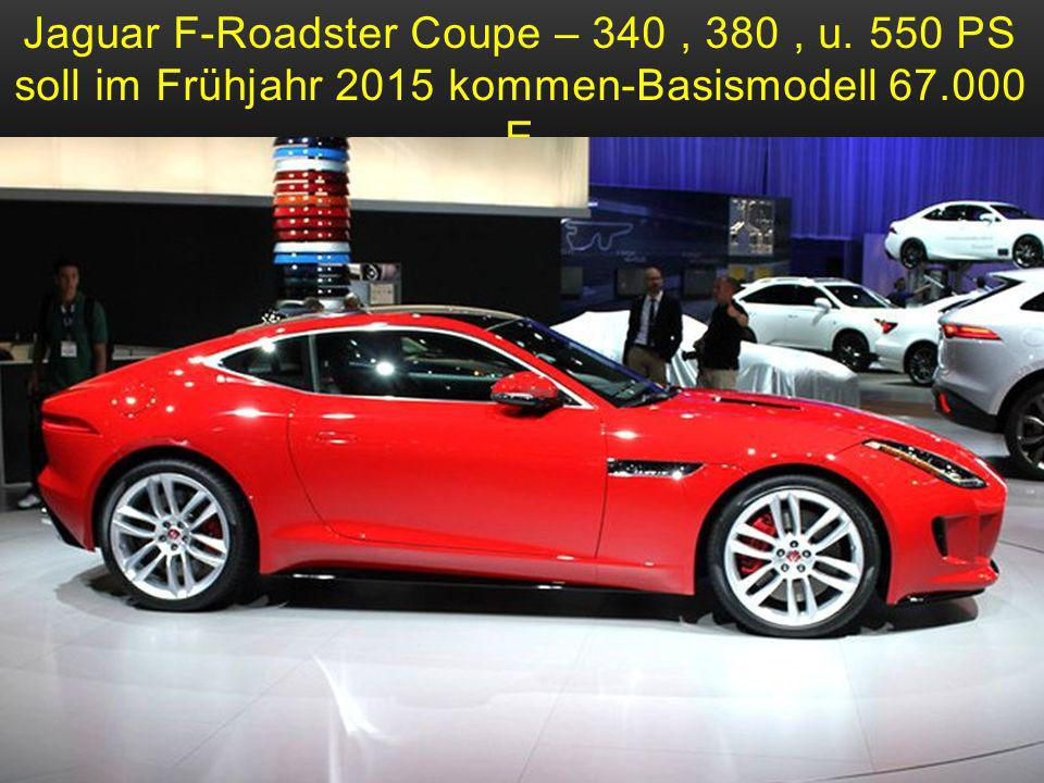 Jaguar F-Roadster Coupe – 340 , 380 , u