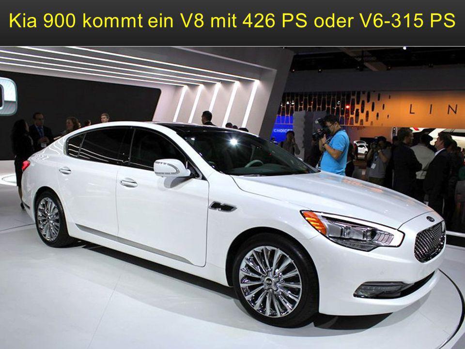 Kia 900 kommt ein V8 mit 426 PS oder V6-315 PS