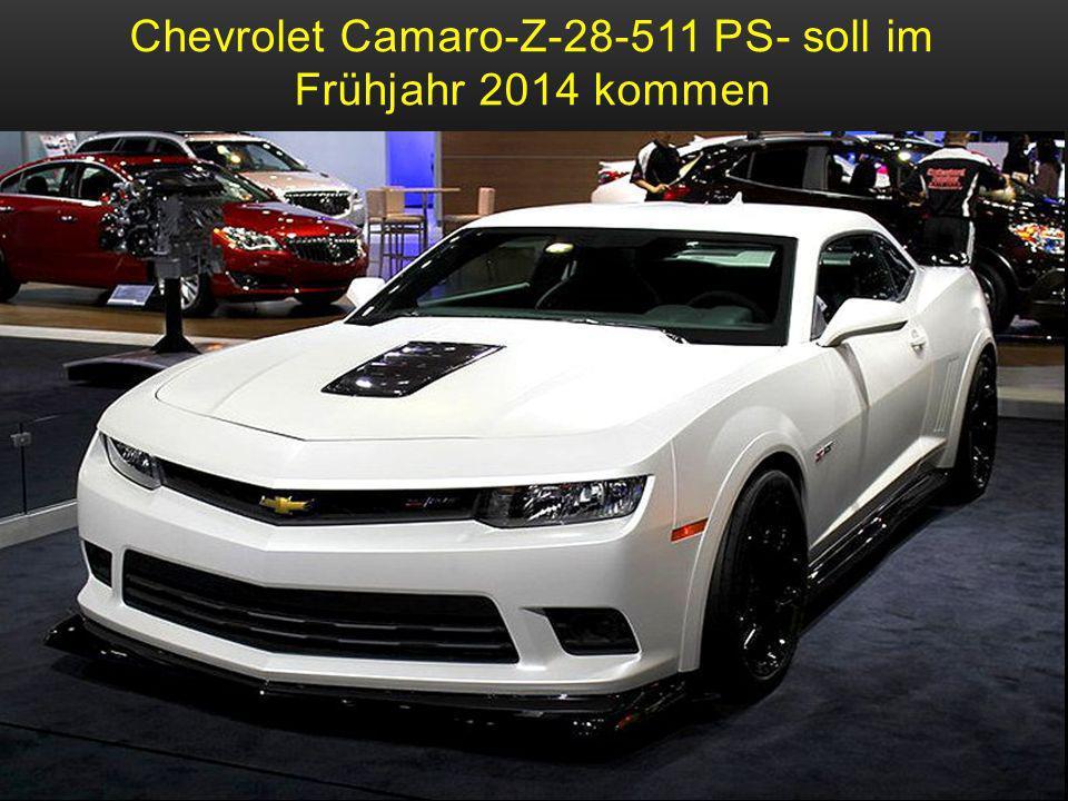 Chevrolet Camaro-Z-28-511 PS- soll im Frühjahr 2014 kommen