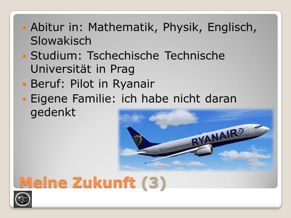 Meine Zukunft (3) Abitur in: Mathematik, Physik, Englisch, Slowakisch