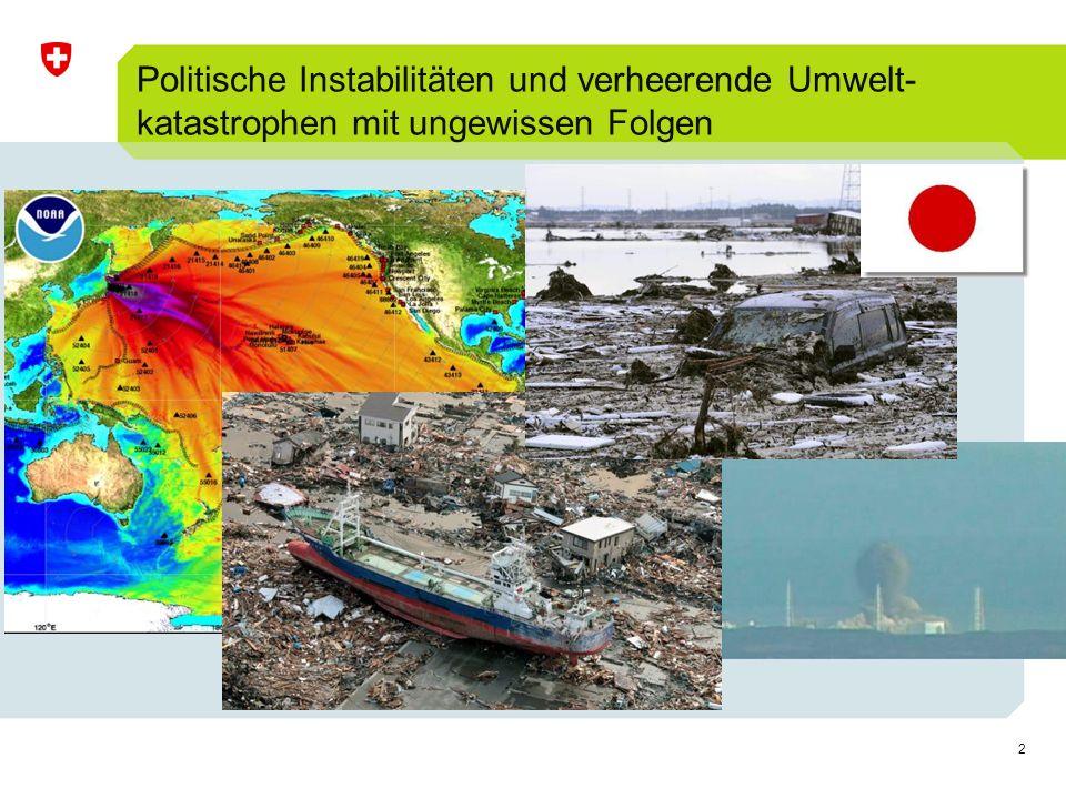 Politische Instabilitäten und verheerende Umwelt- katastrophen mit ungewissen Folgen