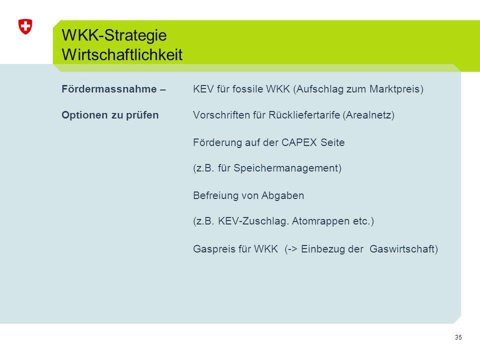 WKK-Strategie Wirtschaftlichkeit