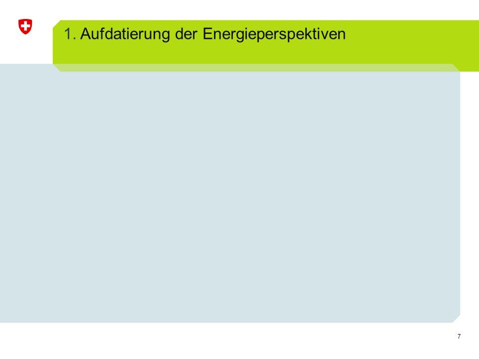 1. Aufdatierung der Energieperspektiven