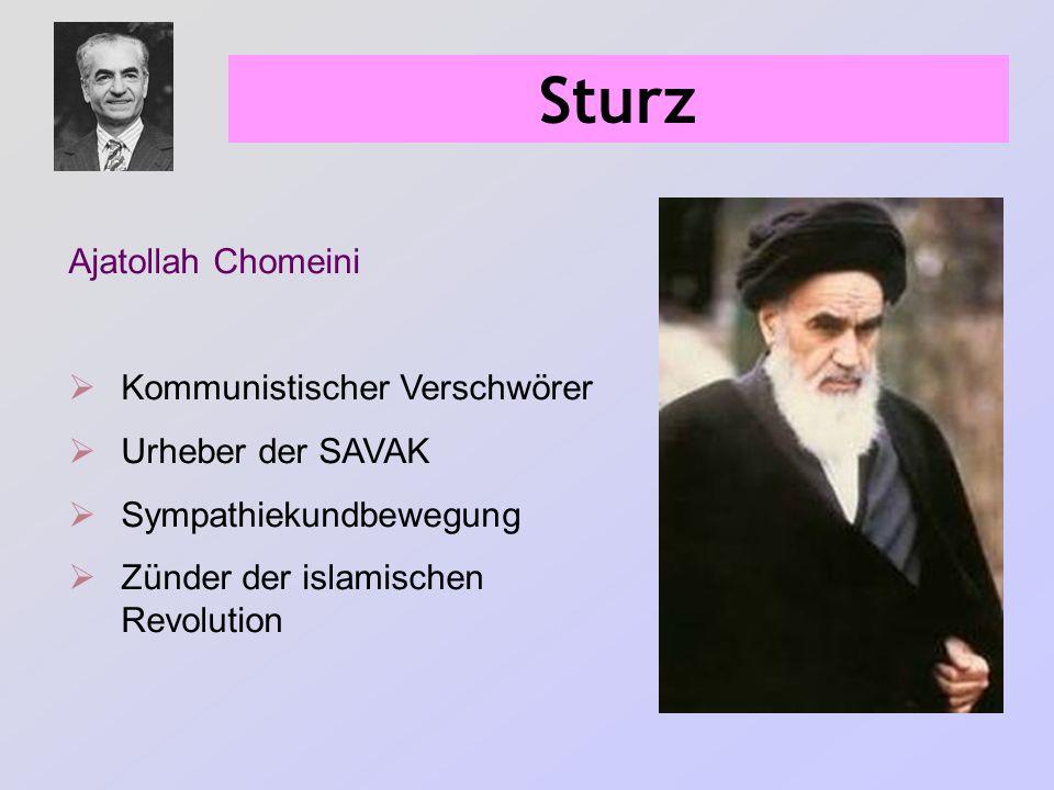 Sturz Ajatollah Chomeini Kommunistischer Verschwörer Urheber der SAVAK