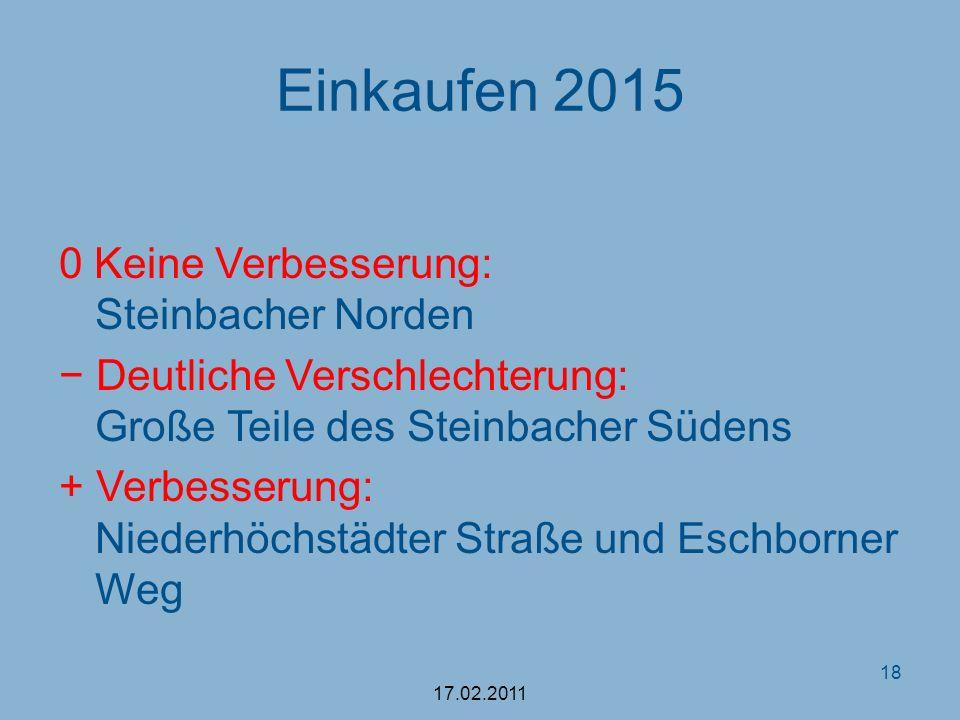 Einkaufen 2015 0 Keine Verbesserung: Steinbacher Norden