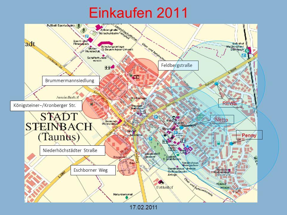 Einkaufen 2011 17.02.2011 Feldbergstraße Brummermannsiedlung REWE