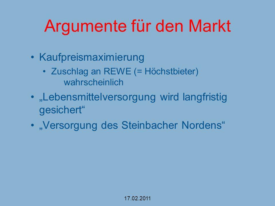 Argumente für den Markt
