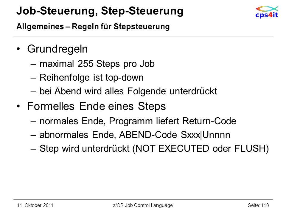 Job-Steuerung, Step-Steuerung