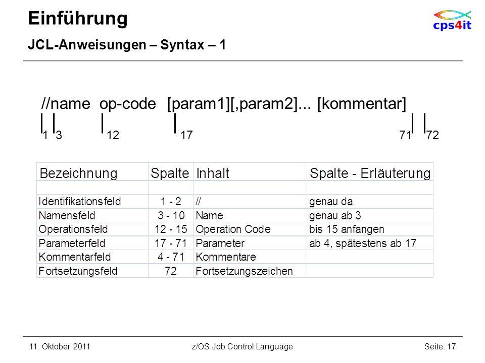 z/OS Job Control Language