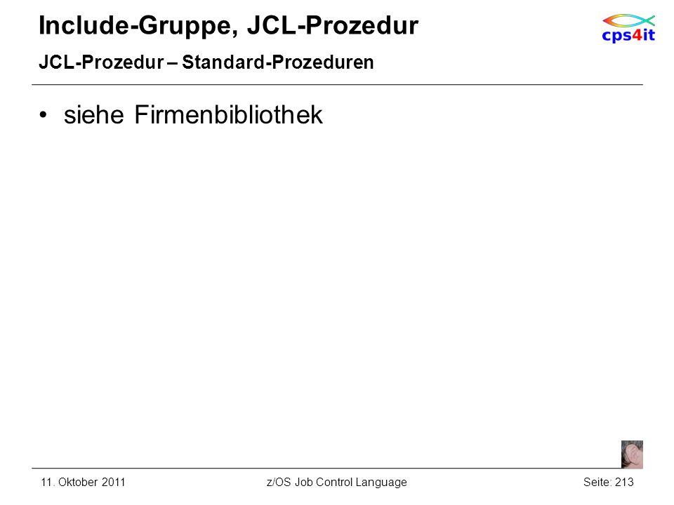 Include-Gruppe, JCL-Prozedur
