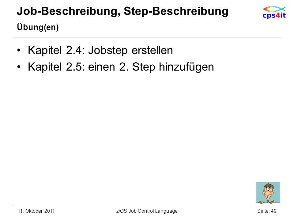 Job-Beschreibung, Step-Beschreibung