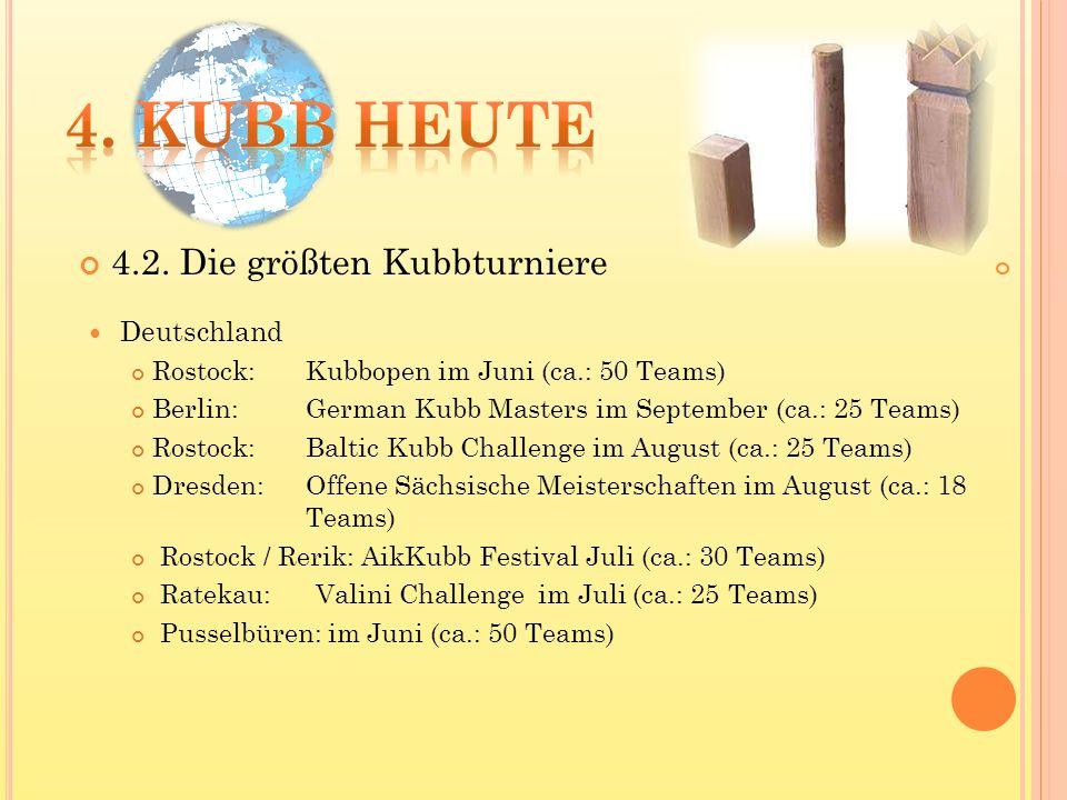 4. Kubb heute 4.2. Die größten Kubbturniere Deutschland