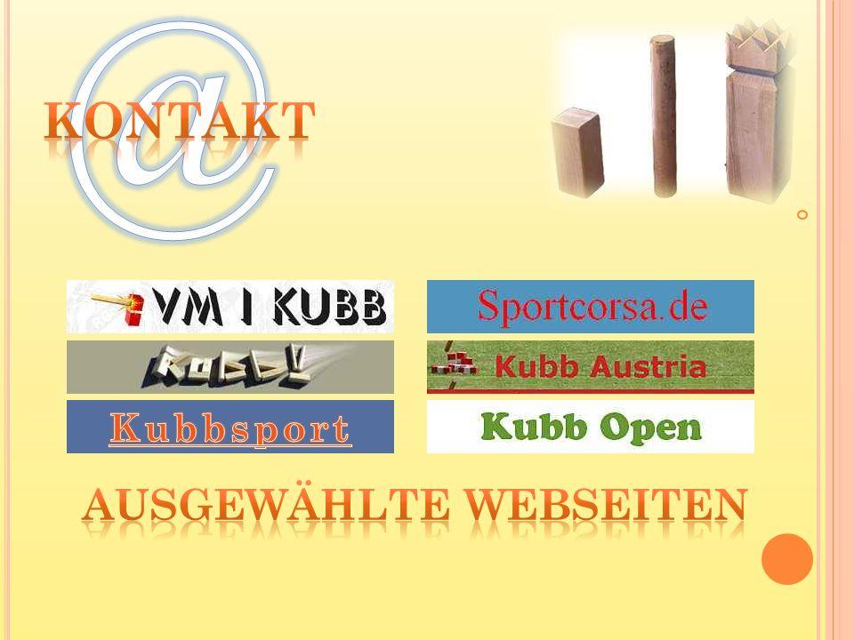 @ Kontakt Kubbsport Ausgewählte Webseiten