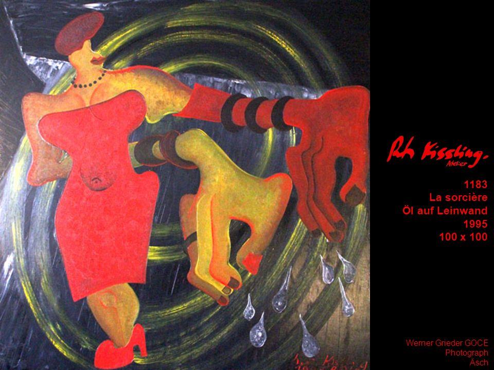 1183 La sorcière Öl auf Leinwand 1995 100 x 100 Werner Grieder GOCE