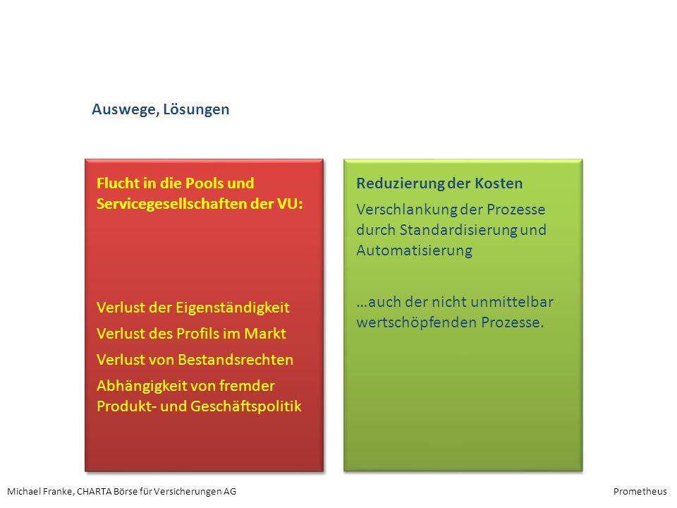 Auswege, Lösungen Flucht in die Pools und Servicegesellschaften der VU: Verlust der Eigenständigkeit.