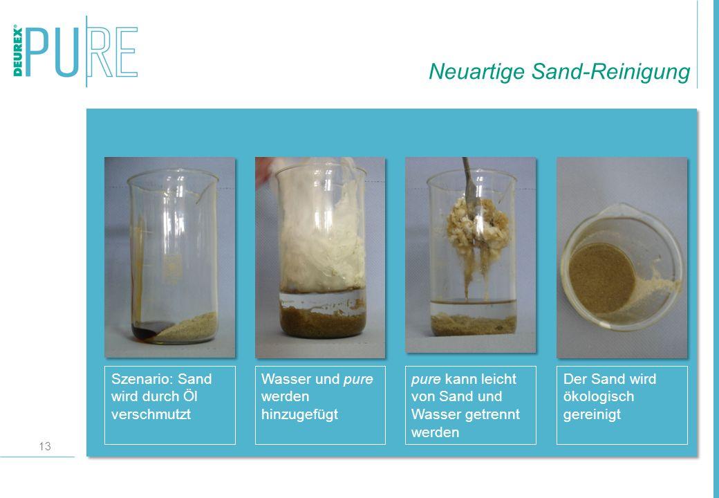 Neuartige Sand-Reinigung