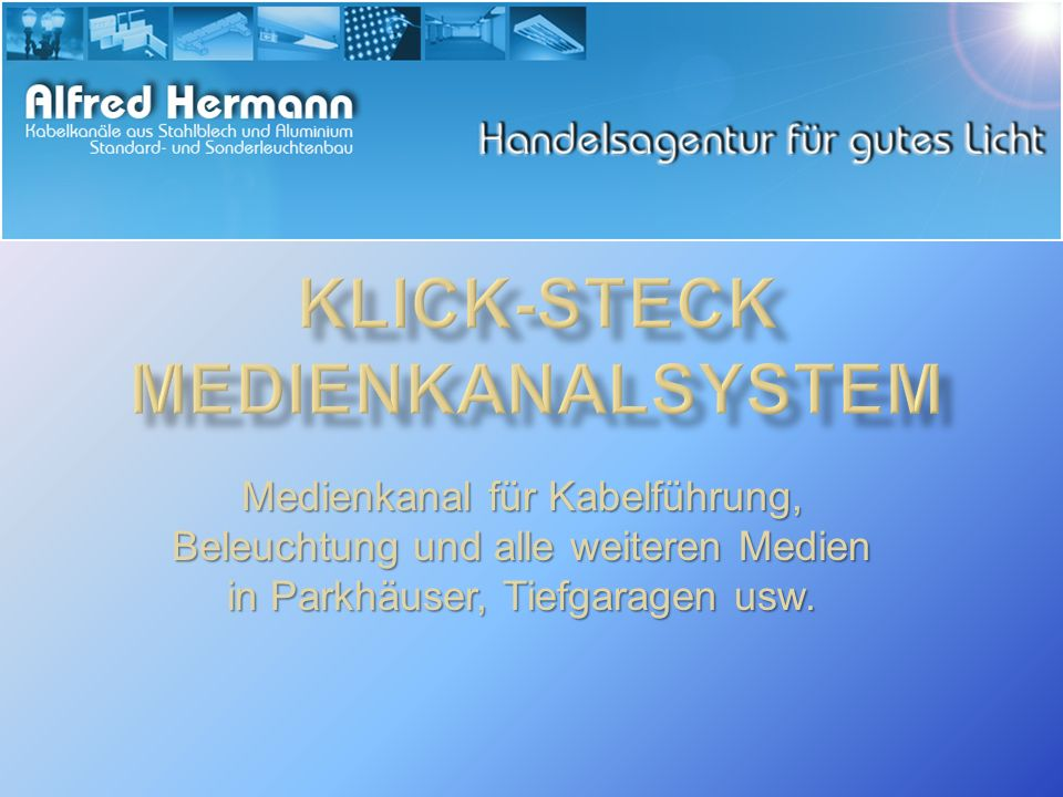 Klick-Steck MEDIENkanalSYSTEM