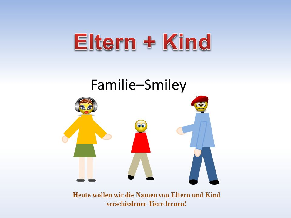 Eltern + Kind Familie–Smiley