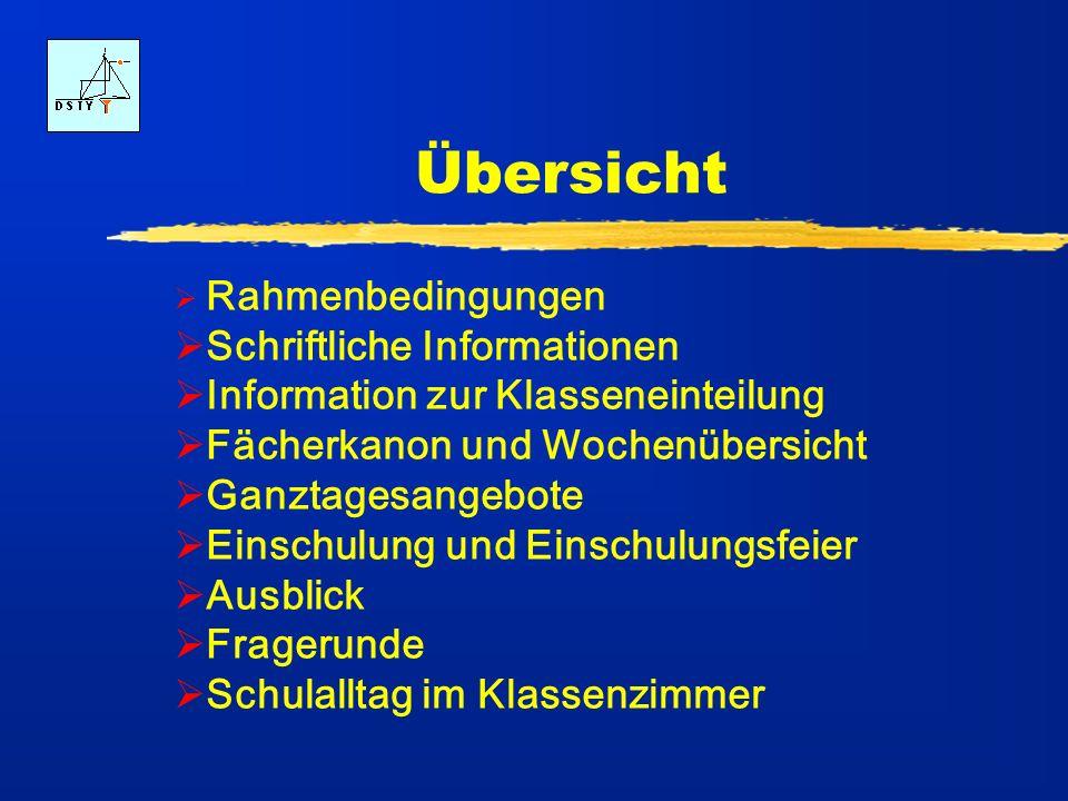 Übersicht Schriftliche Informationen Information zur Klasseneinteilung