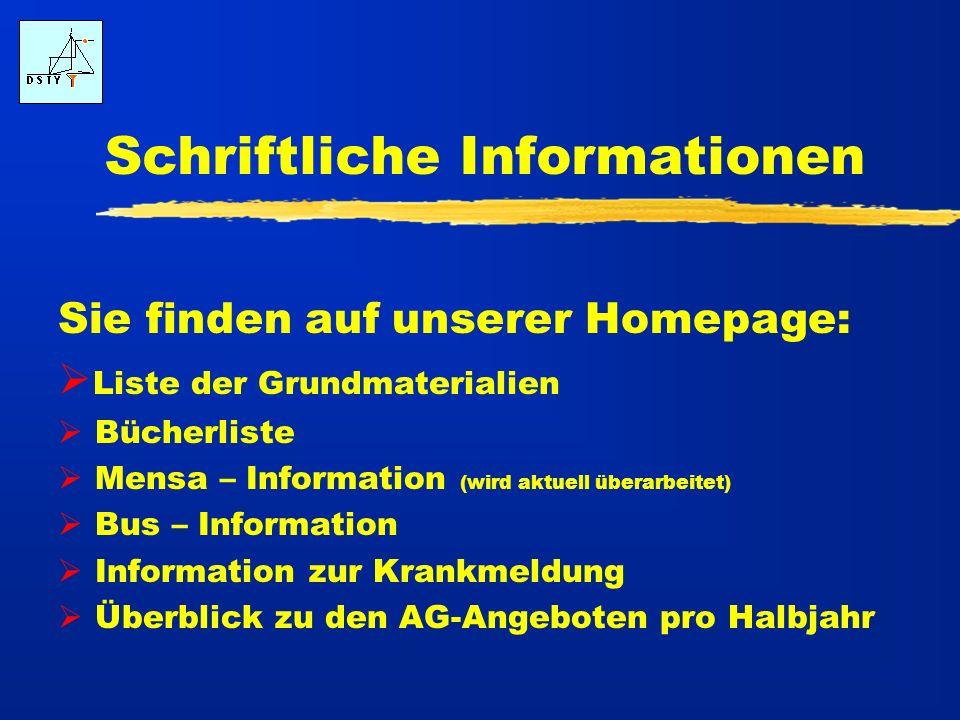Schriftliche Informationen