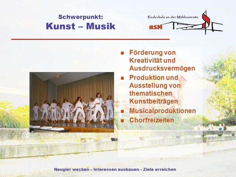 Schwerpunkt: Kunst – Musik
