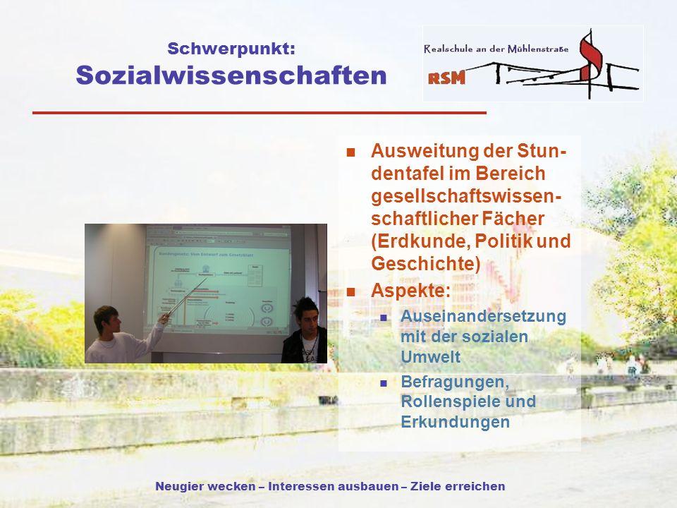 Schwerpunkt: Sozialwissenschaften