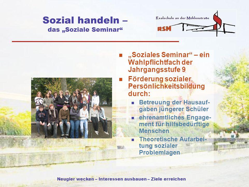 """Sozial handeln – das """"Soziale Seminar"""