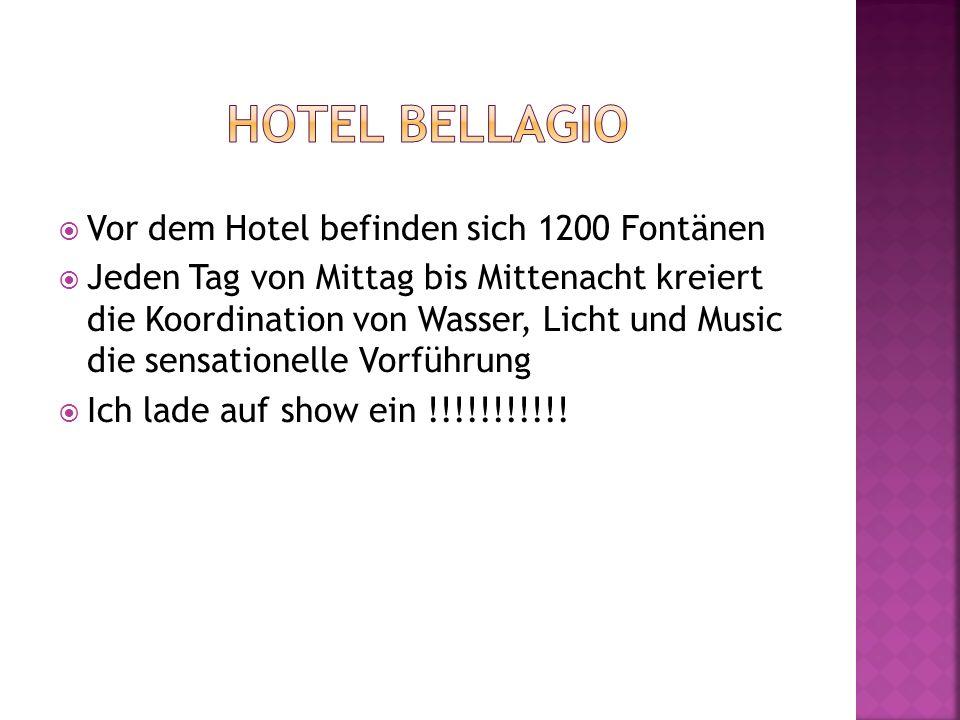 Hotel Bellagio Vor dem Hotel befinden sich 1200 Fontänen