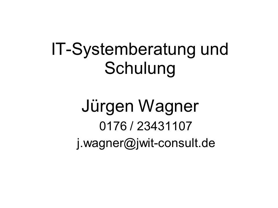 IT-Systemberatung und Schulung Jürgen Wagner
