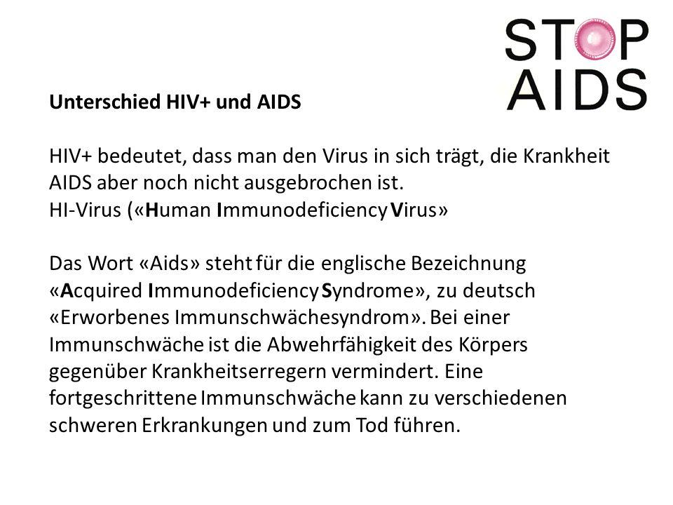 Unterschied HIV+ und AIDS
