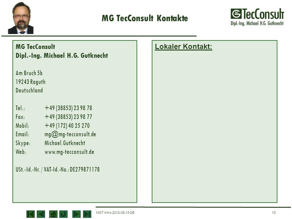 MG TecConsult Kontakte